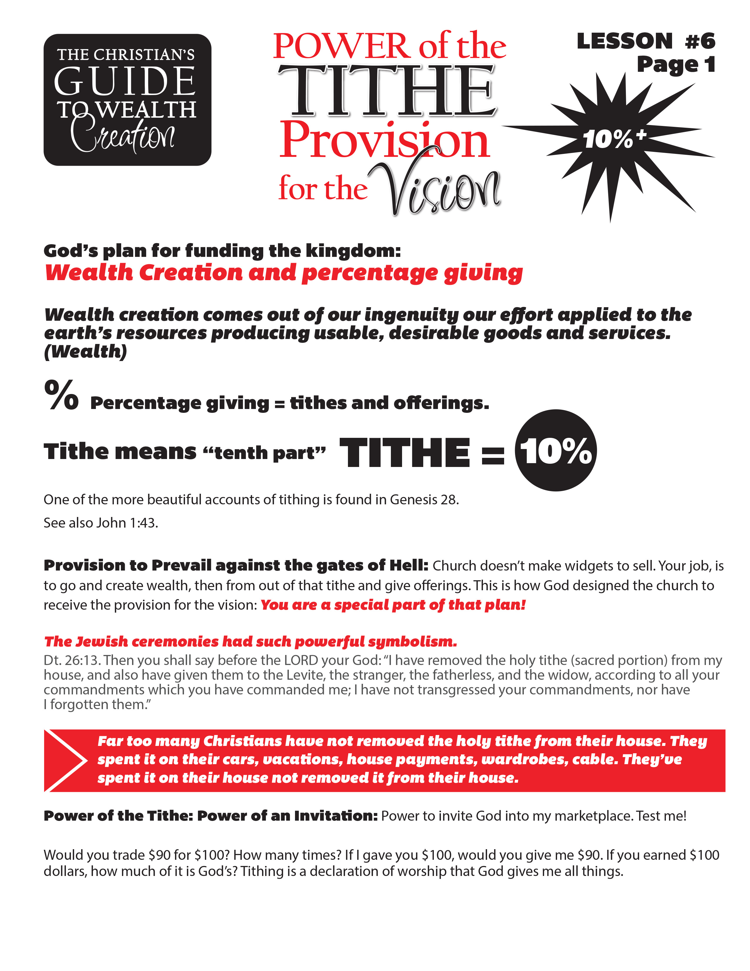 Lesson 6 Power of the Tithe - Provision for the Vision page 1.jpg