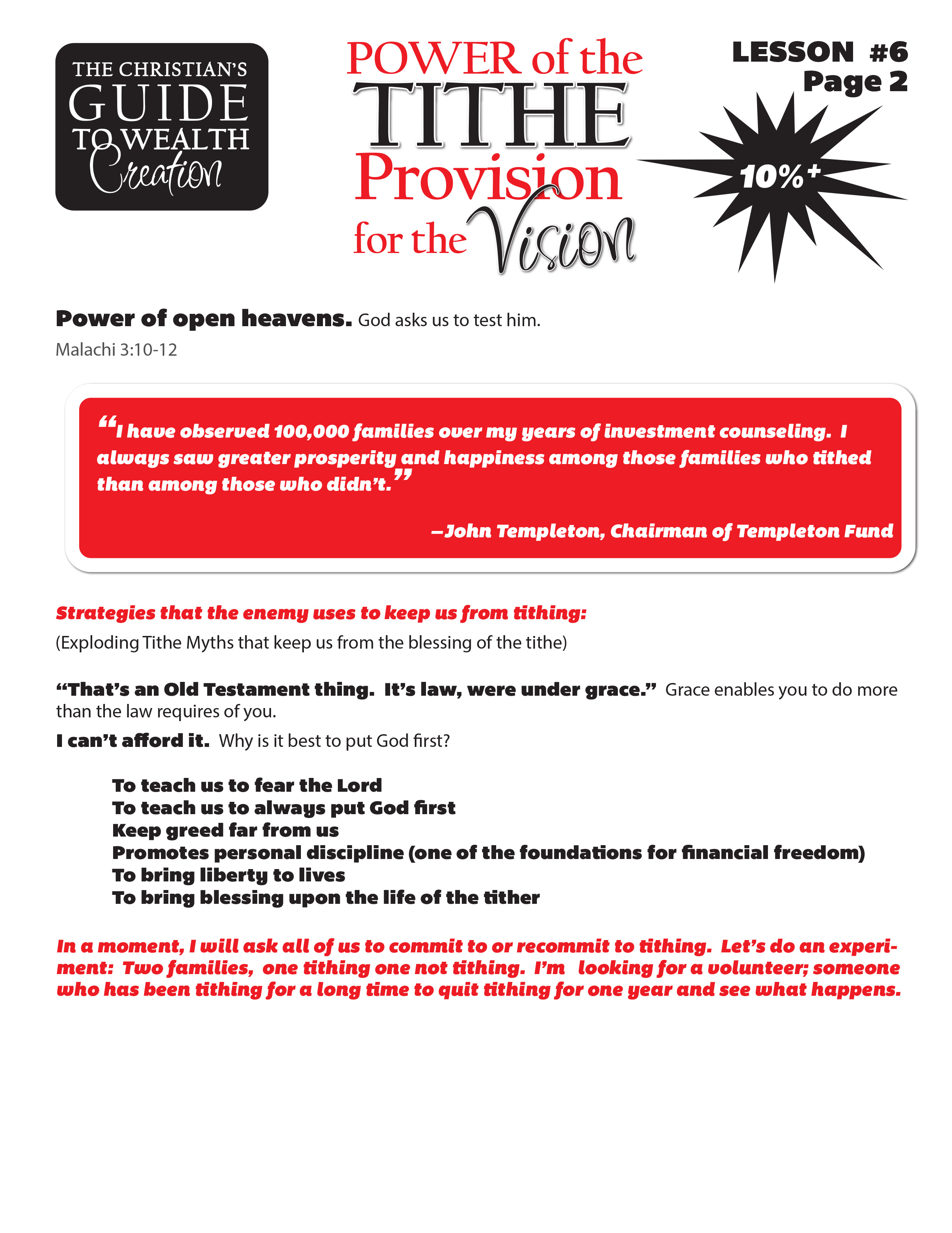 Lesson 6 Power of the Tithe - Provision for the Vision page 2.jpg